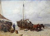 landing of fishing boats scheveningen