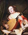 A Lady Playing the Lute
