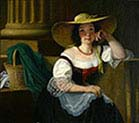 Seated Lady with Sun Hat