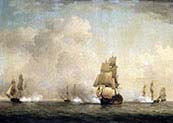 The Capture of a French Ship by Royal Family Privateers