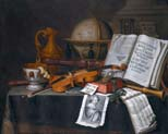 vanitas still life with instruments