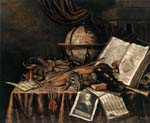 vanitas still life with musical instruments