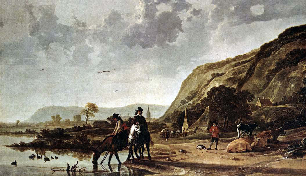 River Landscape with Horsemen