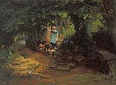 Children by a Brook