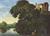 Landscape with Vesta temple in Tivoli