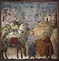 Two-Saint Francis Giving his Mantle to a Poor Man