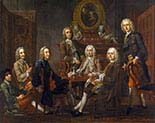 Group of Gentleman with the Artist