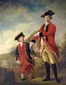 Double Portrait of Lieutenant General the Hon Philip Sherard and Captain William Tiffin at the Battle of Brucke Muhle