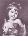 Miss Julie Metcalf with her Dog