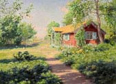 Landscape with Red Cottage