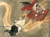 A Tengu and a Buddhist Monk
