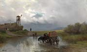 cossacks crossing the river