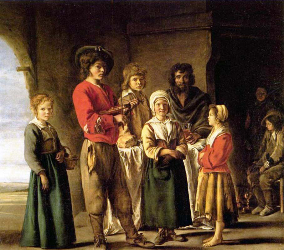 peasants in the cave house