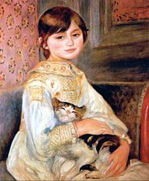 Julie Manet with Cat