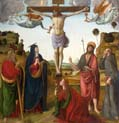 crucifixion with the madonna and saints