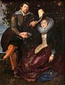 Self-portrait-with wife Isabella Brant in the Honeysuckle Bower