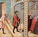 scenes from the legend of saint peter the martyr the blind and lame pray at the saint's tomb