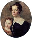 wife of the artist with their daughter elisabeth