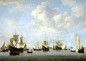 Dutch Fleet in Goeree Strairs