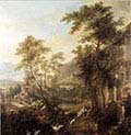 A Capriccio Landscape with Shepherds