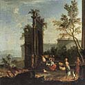 Capriccio with Pastoral Figures and Animals