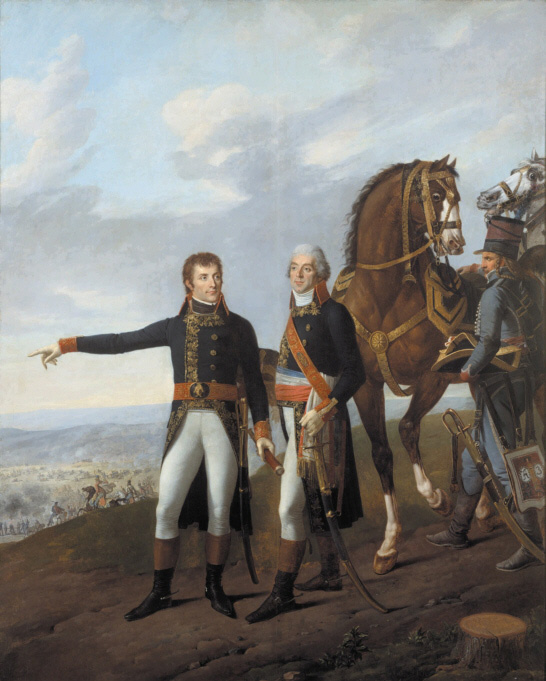 general bonaparte and his chief of staff berthier at the battle of marengo