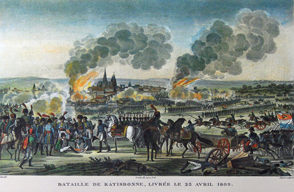 napoleon wounded at the battle of ratisbon