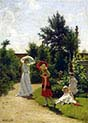The Family of the Artist in the Garden of the Summer Residence in Wannsee