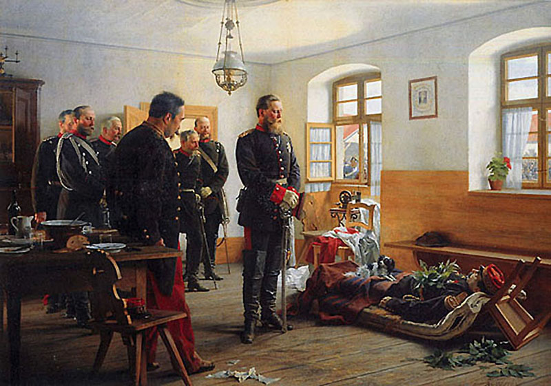 Fredrick Wilhelm and the Corpse of French General Abel Douay